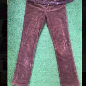 low rise slim fit corduroy jeans size 30/10